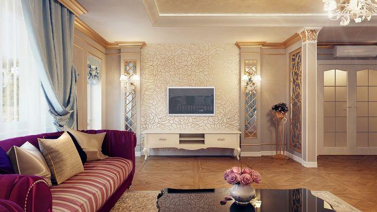 Regal cream burgundy blue lounge