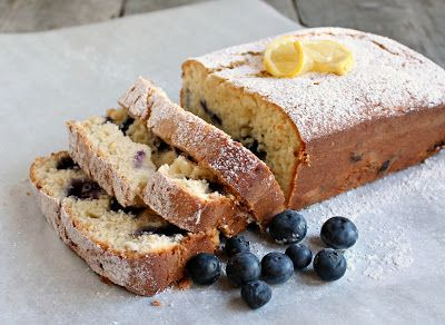 Blueberry Lemon Ricotta pound cake/bread (the berries are healthy, and ...