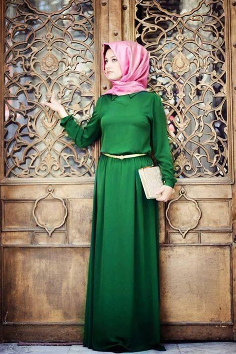 green dresses for hijabers a37bb5608c18cd95b95f