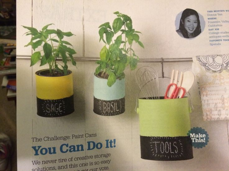Craft Ideas With Paint Cans