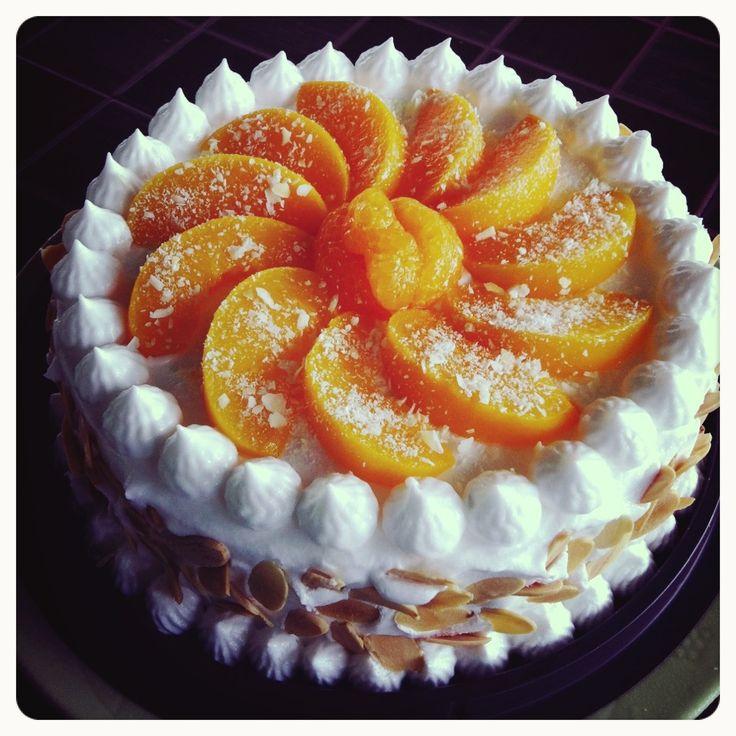 Orange-peach cake | apple blossom | Pinterest