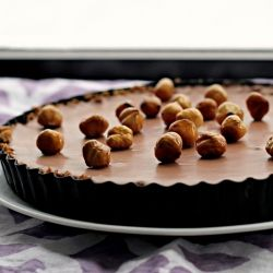 Chocolate Mousse Tart with Hazelnuts | Recipes I Know I'll Love | Pin ...