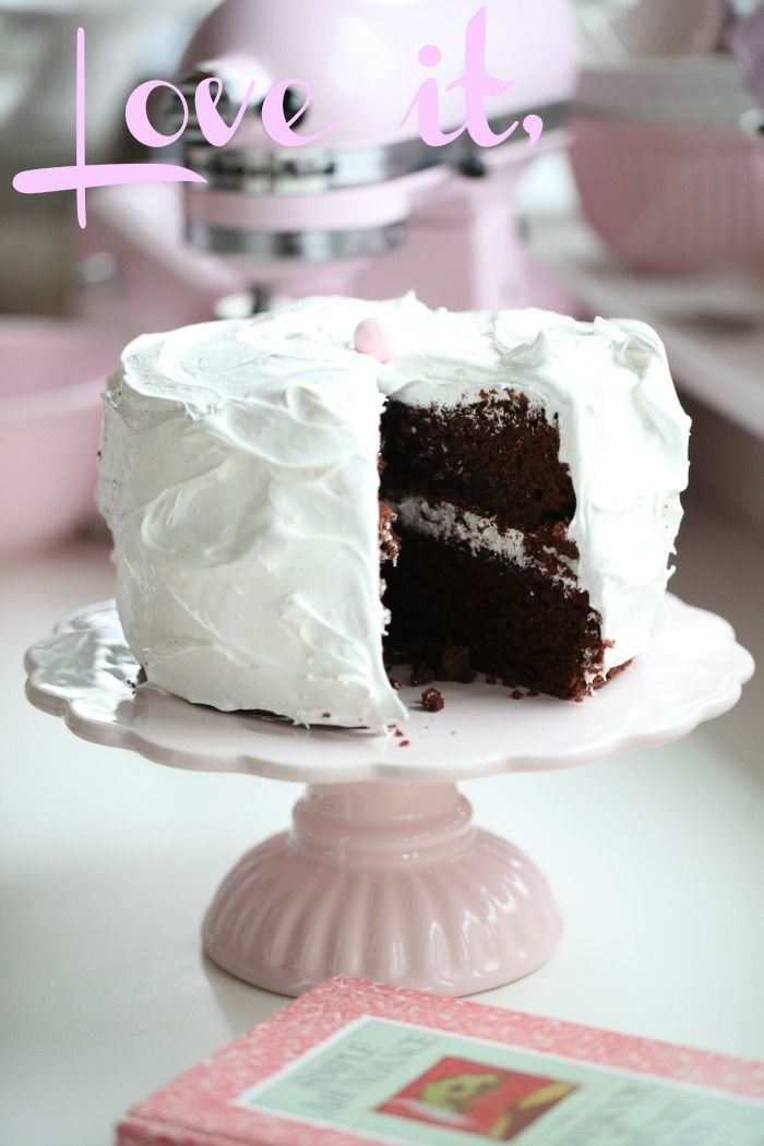 food cake with fluffy icing flickr photo sharing devils food cake ...