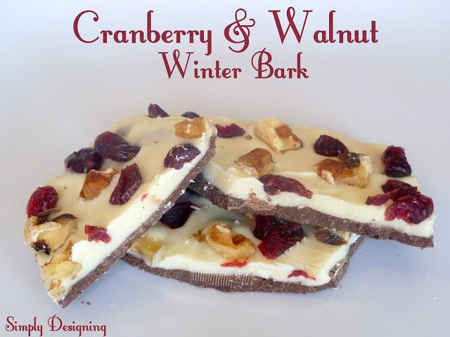 Cranberry and Walnut Winter Bark   Homemade Holiday Treat Blogger Event