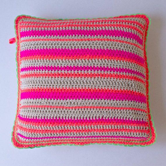 Neon pillow case crochet