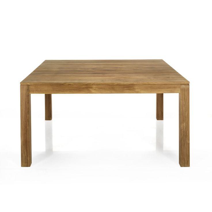 Table de repas carr e en teck massif 145x145cm emotion - Table de repas carree ...