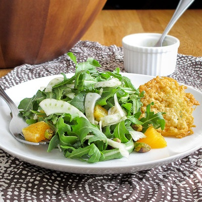 Arugula and shaved fennel salad with oranges and honey cider ...