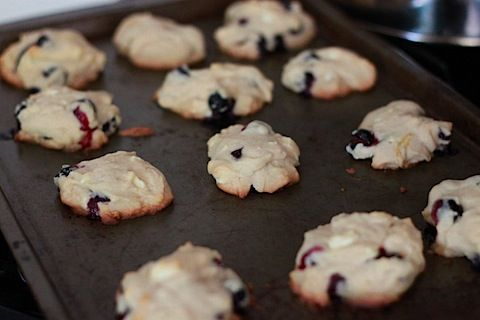 Blueberry, lemon and white chocolate chunk cookies. Making these with ...