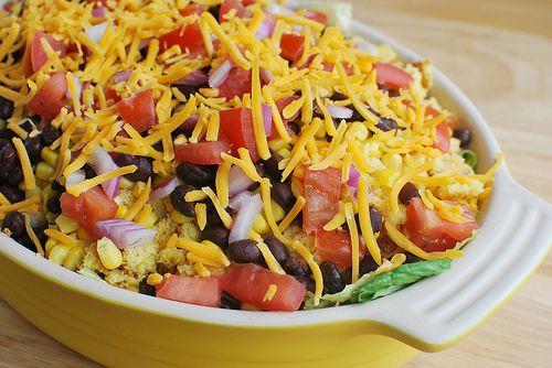 Southwestern Cornbread Salad | Yummy Food | Pinterest
