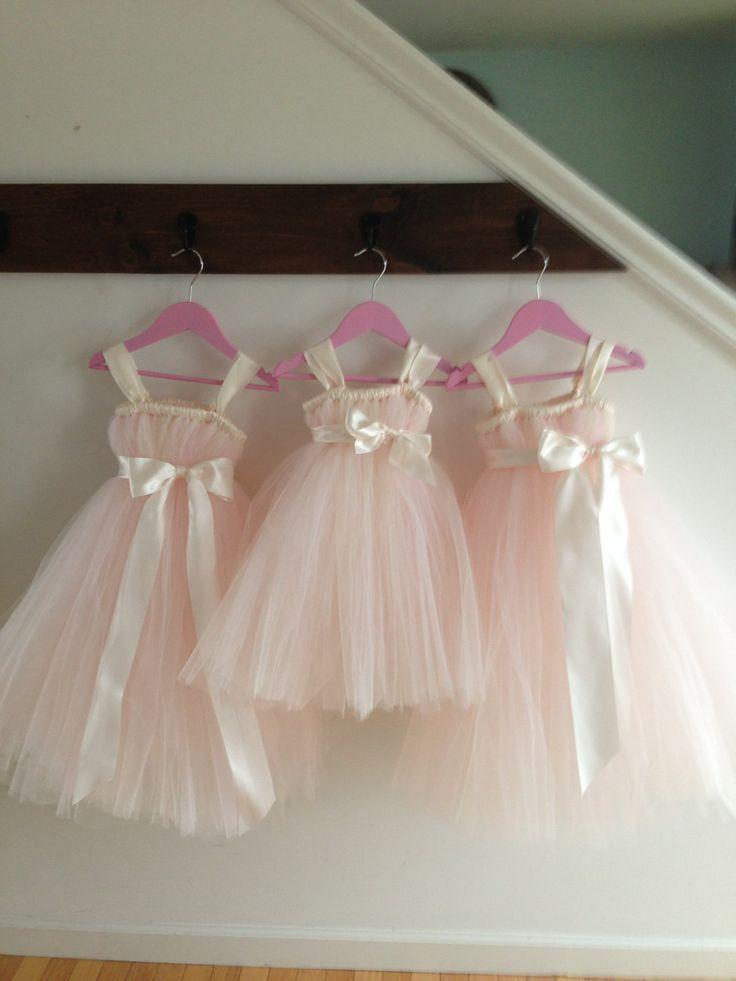 explore blush flower girl dresses