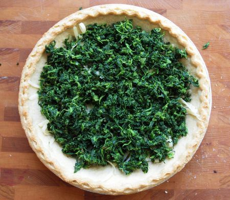 spinach and gruyere quiche (with frozen chopped spinach)