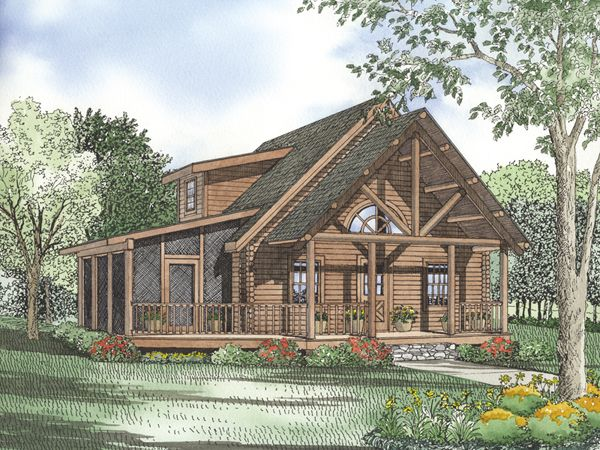 cabin plan with screened porch cabin pinterest