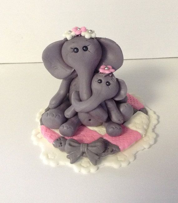elephant cake topper fondant baby shower cake topper safari jungle an
