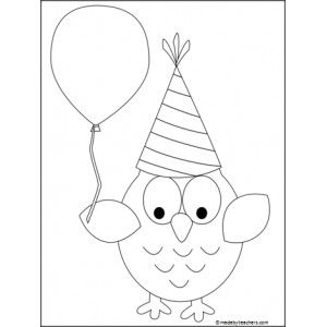 Party Owl Coloring Page Owl Birthday Party Ideas Pinterest Owl Coloring Ideas