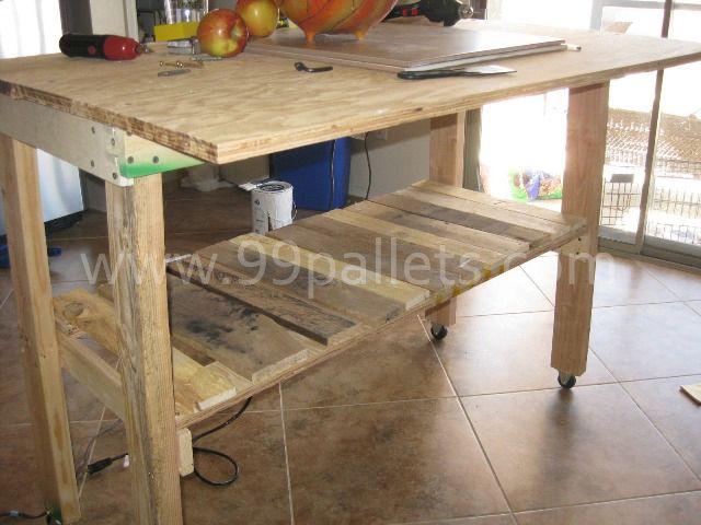 Diy Pallet Island Kitchen Table Pallet Ideas Pinterest
