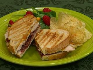 The turkey cranberry panini is a tasty way to make the most of your ...