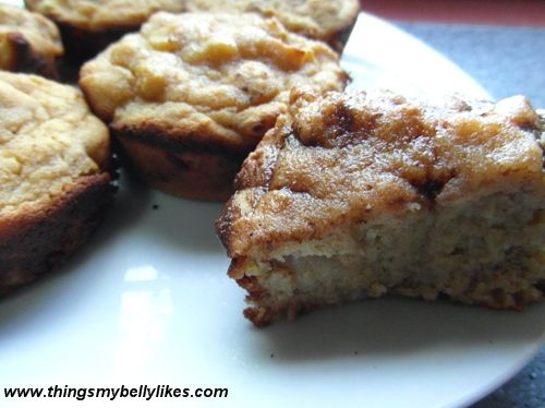 Pear & Nutmeg Muffins by @ThingsMyBellyLikes #nutfree