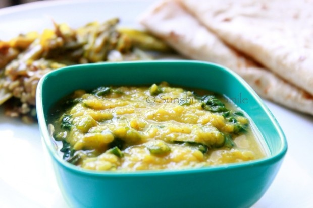 Palak Daal/Red Lentils with Spinach: Red Lentils with Spinach is a ...