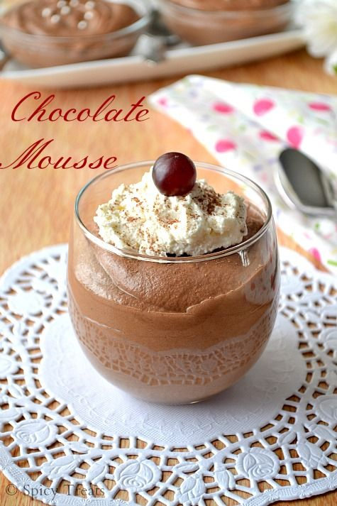 Cook like Priya: Chocolate Mousse | Eggless Chocolate Mousse ~ Guest ...
