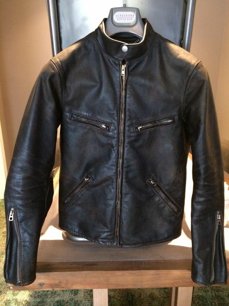 Leather Cafe Racer Jacket