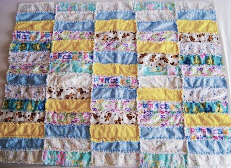 Rag Quilt Ideas Pinterest : handmade baby quilt rag quilts Pinterest
