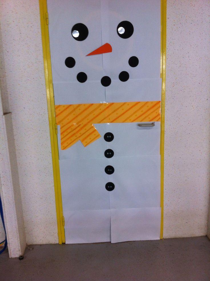 Porte bonhomme de neige ateliers accueil de loisirs - Pinterest bonhomme de neige ...