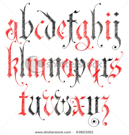 #font #text #alphabet #gothic | Crafting of... Calligraphy ...