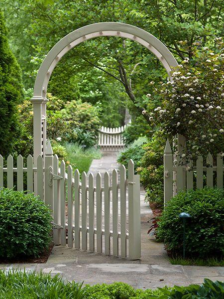 Arbor and gate garden Pinterest