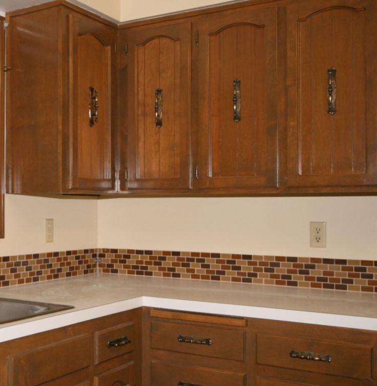 kitchen backsplash after installing glass tile backsplash