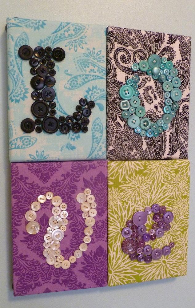 Wall Art For Love : Wall art button nursery letter love