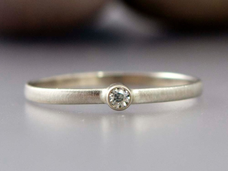 white gold ring thin engagement ring with a tiny
