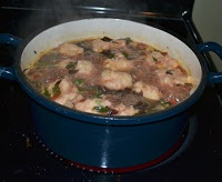 ... Books and Cooks: Mixed Greens and Sausage Soup with Dumplings