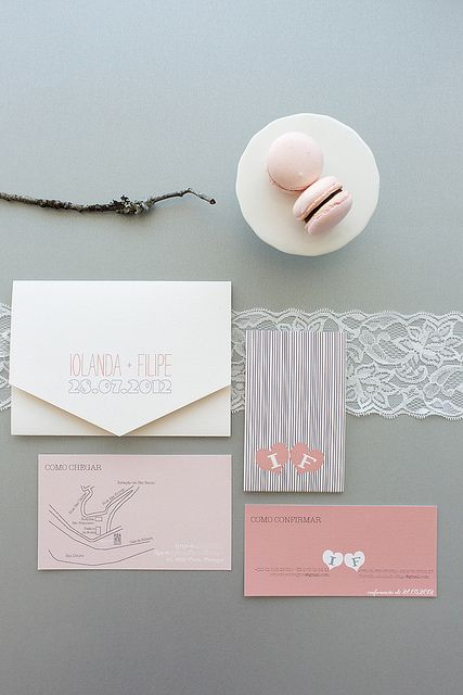 Invitation suite we did for an upcoming wedding in July. Photo by André.