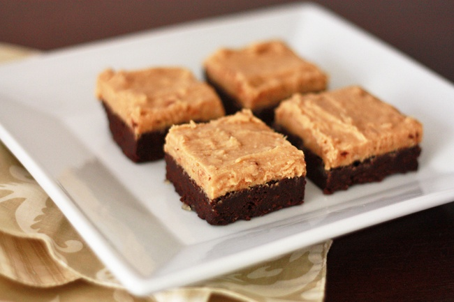 browned butter brownies with fluffy peanut butter frosting Did I ...