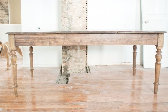 refinishing the dining room table diy pinterest