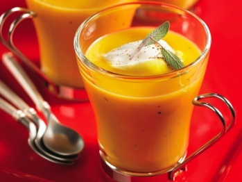 Butternut Squash Soup with Nutmeg Cream recipe