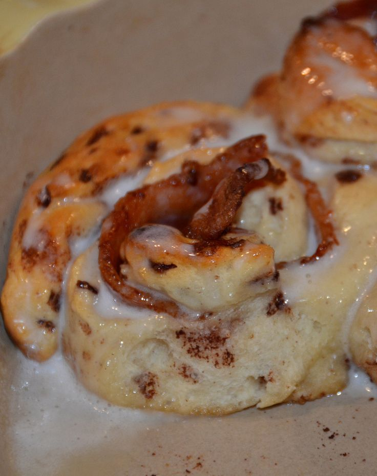 Bacon Cinnamon Rolls aka Bacon Sin Rolls