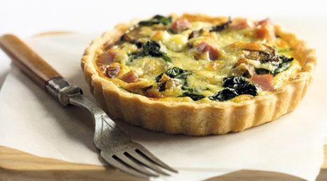Mushroom, Spinach and Ham Tart | Delicious Food | Pinterest