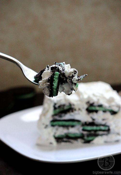 White Chocolate Oreo Mint Icebox Cake | Sweet tooth | Pinterest