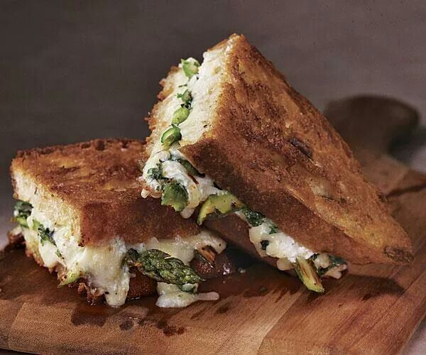 Roast Asparagus Grilled cheese | Meme's Recipes | Pinterest