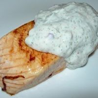 Pan-Seared Salmon With Lemon-Dill Cream Sauce by Canadian Living
