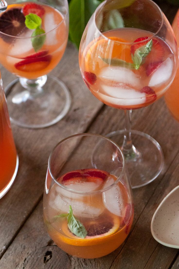Citrus and Basil Sangria | Recipe