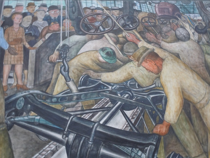 Pin by jacob cedarbaum on the art of industry in early for Diego rivera s most famous mural