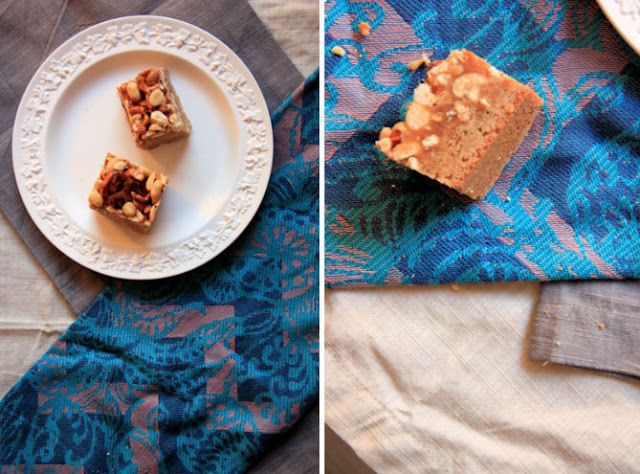 sweet tarte: butterscotch blondie bars with peanut-pretzel caramel