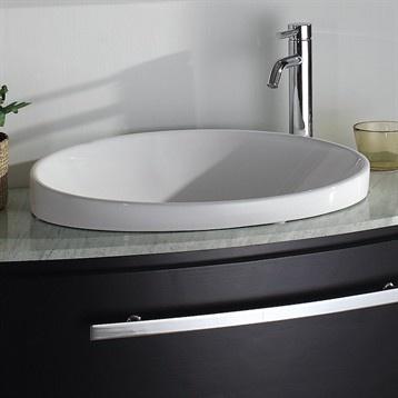 Semi Recessed Vessel Sink : Semi-recessed vessel sink!