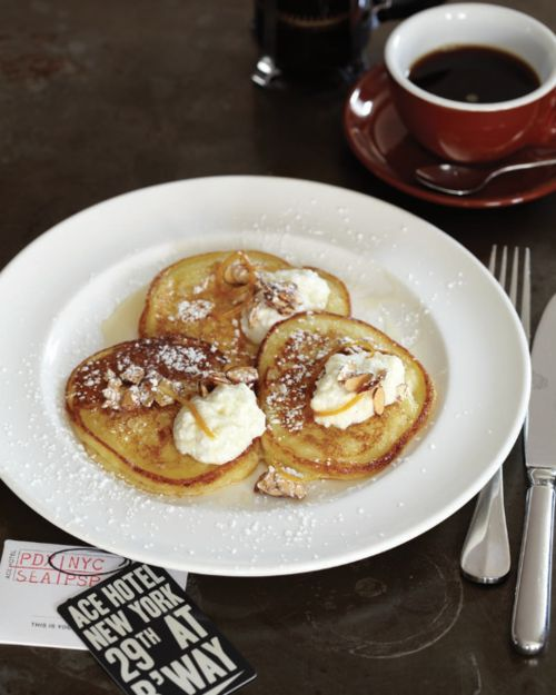 Lucy Schaeffer The Breslin's Ricotta Pancakes with Orange Syrup ...