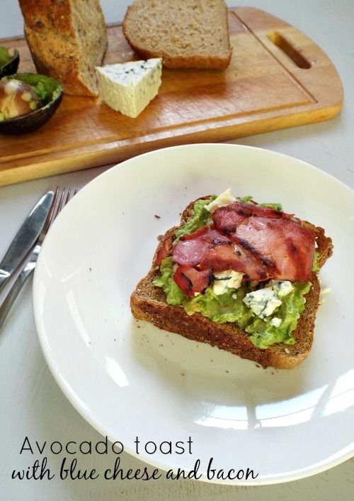 Avocado toast with blue cheese and bacon | Fish Fingers for Tea