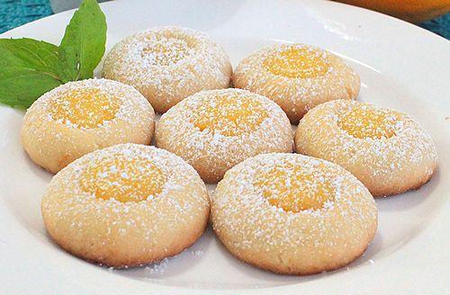 Lemon Thumbprint Cookies with Lemon Curd Filling