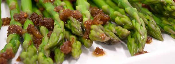 Asparagus with Shallot Marmalade | Plant-Based Entrees and Sides | Pi ...