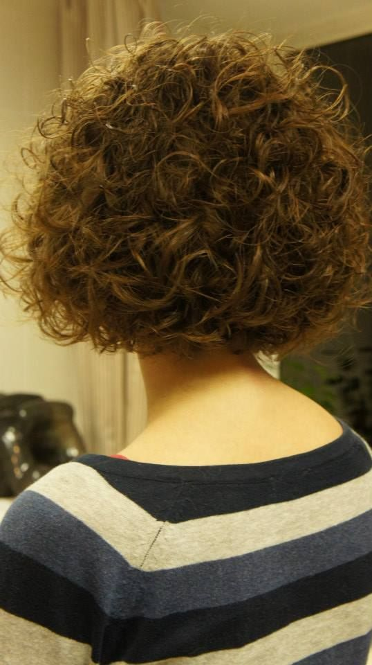 ... curls, shorter perm style -- back | Curly Hair / Perms | Pinter